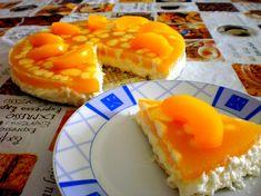 Broskyňová torta so salkom - NajRecept. Russian Recipes, Ale, Waffles, Pineapple, Fruit, Breakfast, Simple, Sweet, Ethnic Recipes