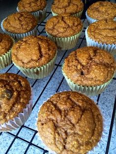 Banana Pumpkin Chocolate Chip muffins - Fit and Healthy with Debbie