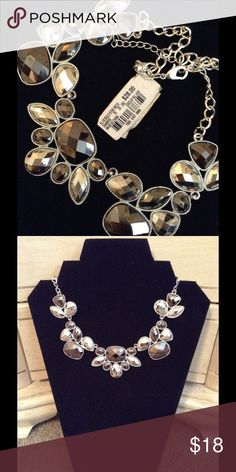 Statement Necklace NWT Silver tone.  From Macy's. Jewelry Necklaces