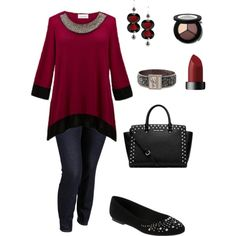 """""""Trim the Tree- Plus Size Outfit"""" by boswell0617 on Polyvore"""