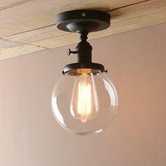 Biddeford I. Large Clear SEMI FLUSH Ceiling Light | Decorating ideas ...