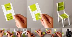 Business card that transforms into a chair!