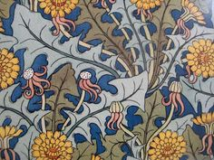 The lowly dandelion inspired Maurice Pillard Verneuil to draw these beautiful floral patterns in Art Nouveau Tiles, Art Nouveau Design, Art Deco, Dandelion Drawing, Dandelion Art, Art Nouveau Furniture, Art And Craft Design, Arts And Crafts Movement, Floral Illustrations