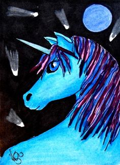 ACEO UNICORN AND COMETS ON EBAY