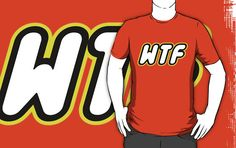 WTF in brick font by Customize My Minifig by ChilleeW