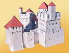 Milpersac Medieval Castle for Diorama Free Building Paper Model Download