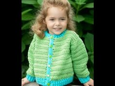 #Crochet  Fun Time Cardigan - Video 1  medium weight yarn. The pattern is a free download from Redheart.com Pattern # WR1987