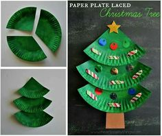 Paper Plate Christmas Tree Craft : Christmas tree diy with paper plates. Fun crafts for the kids Fun paper plate Christmas tree craft for kids, preschool Christmas crafts, Christmas fine motor activities, Christmas art projects for kids. Lace Christmas Tree, Christmas Tree Crafts, Snowman Crafts, Christmas 2017, Christmas Crafts For Children, Christmas Crafts Paper Plates, Christmas Crafts With Paper, Craft With Paper Plates, Paperplate Christmas Crafts