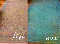 Red Brick Magazine: Overdyed Rug D.I.Y using screen print dye and no bleach