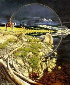 Bev Doolittle - What do you really see? Hidden Art, Hidden Images, Hidden Pictures, Illusion Kunst, Illusion Art, Illusion Paintings, Art Optical, Optical Illusions, Native Art