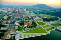 Waterfront on the Tennessee River, Chattanooga.