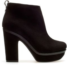 Zara Ankle Boot With Block Heel - Polyvore
