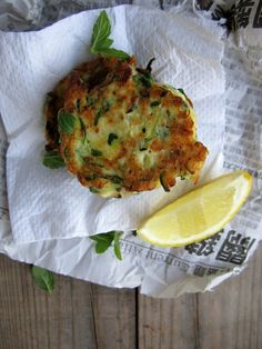 zucchini, mint & feta fritters from my darling lemon thyme
