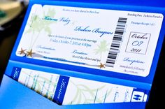 Destination wedding boarding ticket invite :)