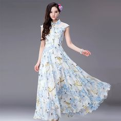 Exquisite Doll Collar Lace Patchwork Mid Waist Chiffon Dresses #jollychic