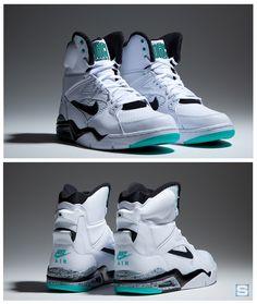 Nike Air Command Force High: White/Black-Wolf Grey-Hyper Jade