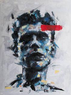 "Saatchi Art Artist Davide Cambria; Painting, ""Nine Million Rainy Days [SOLD]"" #art"