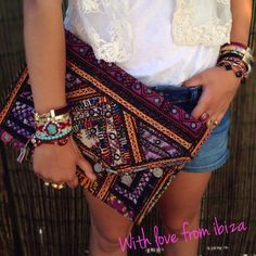 Beautiful clutch ! From Ibiza with love :-) , handmade fashion item -->> shop online @ www.lovelyjewels.nl