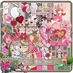 Printable Scrapbooking Megakit It's a Girl's World (PU/S4H) by Digidesignresort