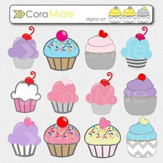 free cupcake clipart images - super cute clip arts and backgrounds here! Some made for phone too