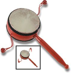 Spinning Drum by Trophy Music Company. $6.00. By twisting your hand, both beads strike the head causing a unique party sound.