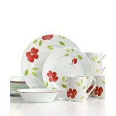 Top favorite so far!!!! corelle dishes   Corelle Dinnerware, Garden Paradise 16 Piece Set - Kitchen - Shopping ...