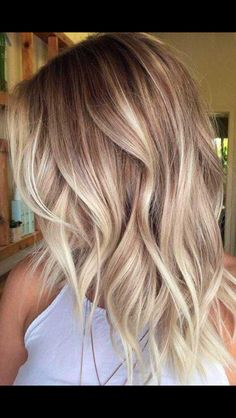 35 Balayage Hair Color Ideas for Brunettes in The French hair coloring tec. - - 35 Balayage Hair Color Ideas for Brunettes in The French hair coloring technique: Balayage. These 35 balayage hair color ideas for brunettes in . Blond Ombre, Ombre Hair Color, Hair Color Balayage, Icy Blonde, Bright Blonde, Ombre Bob, Ash Blonde Hair Balayage, Creamy Blonde, Balayage Hairstyle