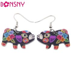 Cheap earrings acrylic, Buy Quality drop earrings directly from China earrings fashion Suppliers: Bonsny drop pig earrings acrylic dangle Claus 2015 news spring summer girl woman fashion jewelry accessories cute animal Fashion Earrings, Fashion Jewelry, Women Jewelry, Tout Rose, Girls Earrings, Silver Earrings, Diamond Earrings, Animal Jewelry, Gifts For Teens