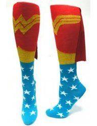 Superhero socks with cape!
