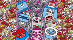 How To Draw Party Kawaii Robots by Garbi KW