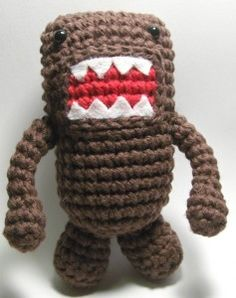 Nerdigurumi - Free Amigurumi Crochet Patterns with love for the Nerdy » » Small Domo-Kun Amigurumi Crochet Doll