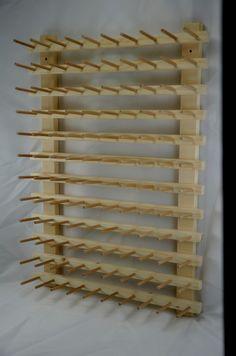 support mural vertical pour bobines et c nes de fils diy pinterest support mural bobine. Black Bedroom Furniture Sets. Home Design Ideas