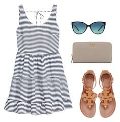 """""""summer dress"""" by kcunningham1 ❤ liked on Polyvore featuring H&M, Prada, Tory Burch and Tiffany & Co."""