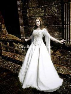 White Gothic Wedding Dresses   Why Not Choosing the Gothic Style Wedding Dresses for You