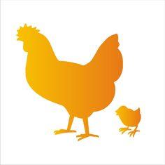 Chicken Hen & baby chick STENCIL5 Sizes by SuperiorStencils