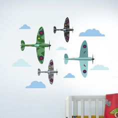 Spitfire Aeroplanes – Wall Stickers