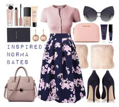 """""""Norma Bates Inspired"""" by hotkillers ❤ liked on Polyvore featuring Pillow Decor, LE3NO, WithChic, Gianvito Rossi, Linda Farrow, Lancôme, NARS Cosmetics, MICHAEL Michael Kors, Guerlain and By Terry"""
