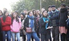 #Jammu In Pics, GMC Jammu Molestation case : Massive protest rocks JNU.  More at - http://u4uvoice.com/?p=251056