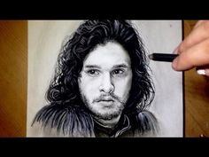 Welcome to the Drawing Zone ! How to draw - Apprendre a dessiner - Speed drawing / painting (pencil or digital) - Illusion - Portrait drawing - Tutorial I. Charcoal Sketch, Charcoal Drawing, Step By Step Painting, Step By Step Drawing, John Snow, Drawing Techniques, Easy Drawings, Sketches, Crayon