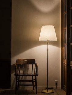 flan L plain (フランL プレイン)|スタンド照明|商品詳細ページ|照明・インテリア 販売 flame Japanese Home Decor, Japanese House, House Lamp, Slice Of Life, Art Plastique, A Good Man, Floor Lamp, Lights, Living Room