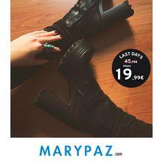 ►►► LAST DAYS FROM 5,99 € Aprovéchate de los ÚLTIMOS DÍAS desde 5,99 € en muchos de nuestros artículos en TIENDA y ONLINE www.marypaz.com ¡ Ya estamos en mitad de la semana ! #shoelfie #rebajasmarypaz #lastdays #shoponline #rebajas   Compra ya este BOTÍN DE TACÓN REBAJADO ► http://www.marypaz.com/tienda-online/botin-de-tacon-y-plataforma-53950.html?sku=72863-35