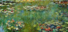 Le Bassin aux nymphéas, reflets verts (C Monet - W 1979)