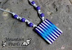 Polimer clay necklace - MOUNTAIN PEARLS by Nataša Hozjan Kutin