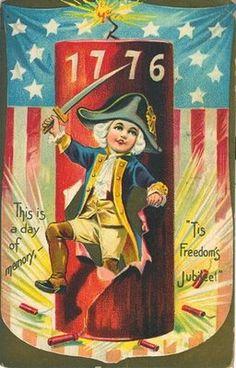 Vintage Greeting-Independance