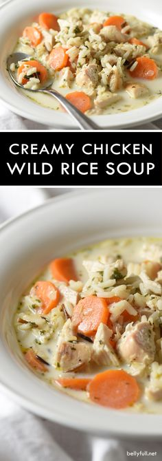 WMF Cutlery And Cookware - One Of The Most Trustworthy Cookware Producers This Creamy Chicken Wild Rice Soup - A Wonderfully Quick And Easy Soup Made With Wild Rice Instead Of Noodles And A Blend Of Spices. Chicken Wild Rice Soup, Creamy Chicken, Chicken Noodles, Chicken Spices, Quick And Easy Soup, Healthy Soup Recipes, Chili Recipes, Rice Recipes, Fall Recipes