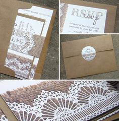 Burlap & Lace Wedding Invitation Suite  SAMPLE by lifewelllived, $7.00