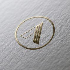 Got to love the gold foil - A Initials Logo, Monogram Logo, Logo Tennis, Makeup Artist Logo, Real Estate Logo Design, Geometric Logo, Logo Concept, Gold Logo, Business Card Logo