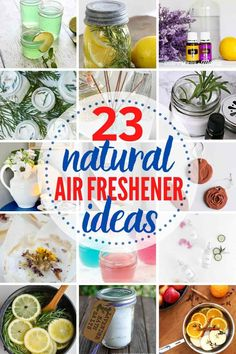 23 Natural Air Freshener Ideas to Refresh Your Home and Car! Skip the fake, chemical-laden supermarket-style air fresheners, and create a DIY air freshener that's not only better smelling, it's better all-round! DIY natural air freshener recipes for your home, even your car! Homemade Air Freshener, Natural Air Freshener, Car Freshener, Simmering Potpourri, Potpourri Recipes, Teacup Candles, Small Mason Jars, Essential Oil Candles, How To Make Diy