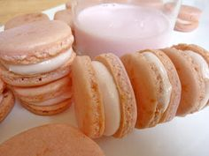 Diary of a Mad Hausfrau: Strawberry Milk Macarons, made with almond flour