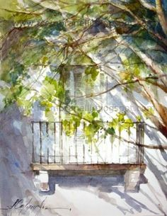 Chasing Light and Shadows 2, painting by artist Fabio Cembranelli